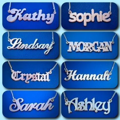 Nameplate Necklace Personalized Nam..