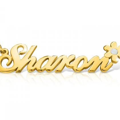 18k Gold Plated Sharon Style Name N..