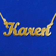 Gold Name Necklace Solid Yellow 14k..