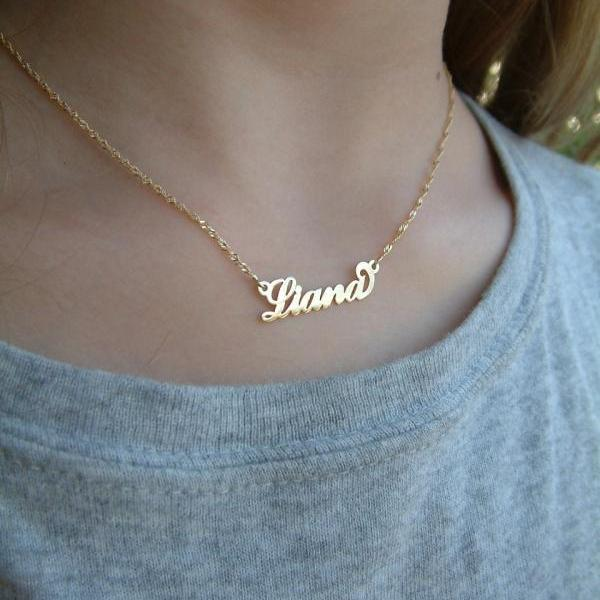 My Name Necklace Small Child Size 14