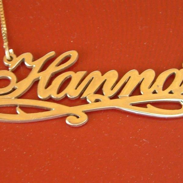18k Gold plated Nameplate necklace monogram Name chain Personalized Custom made for you inital pendant ORDER any name tag Will not wear